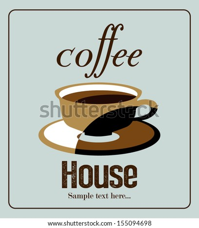 Retro Coffee Menu. Coffee House,poster - stock vector