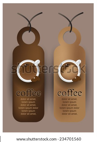 Retro coffee tags labels