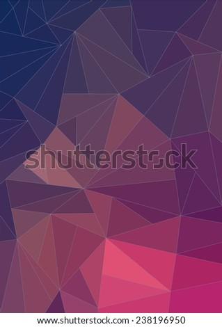 Retro color abstract polygonal background - stock vector