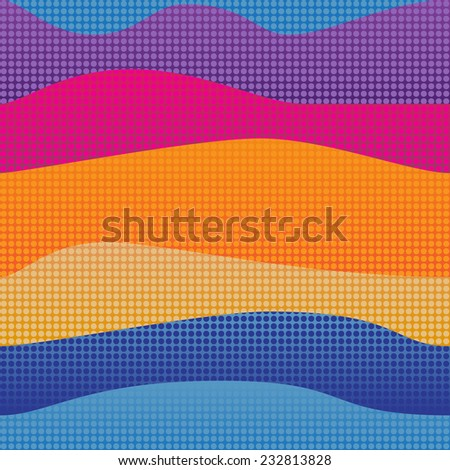 retro color abstract waves background.