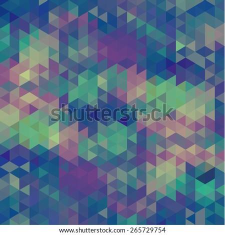 Retro color geometric background  - stock vector