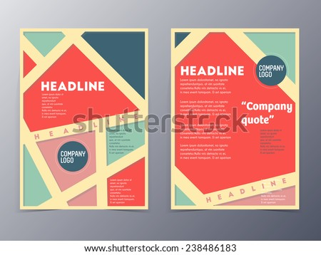Retro Color Table Style Flyer Template Stock Vector 238486183