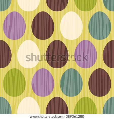 retro color vector seamless easter egg pattern