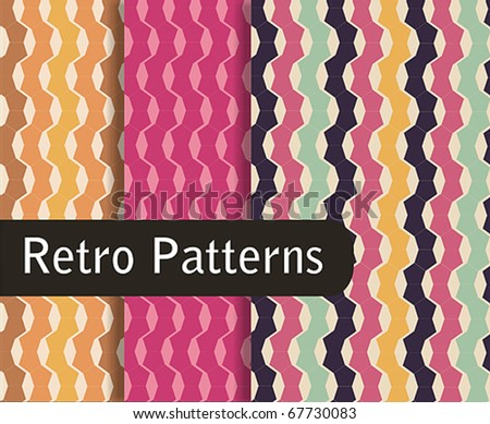 Retro Colorful Patterns - stock vector