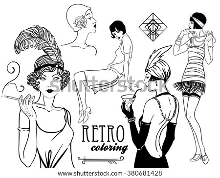 1920s woman on 30s drawings