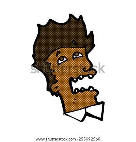 retro comic book style cartoon frightened man - stock vector