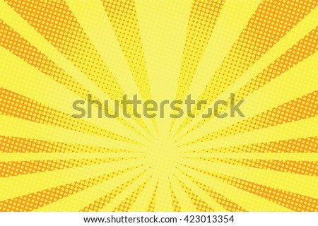 retro comic yellow background raster gradient halftone pop art retro style - stock vector