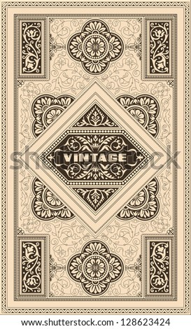 Retro cover - stock vector
