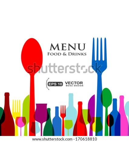retro cover restaurant menu designs on white background - stock vector