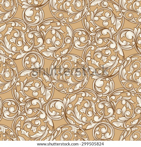 Retro decorative seamless pattern - stock vector