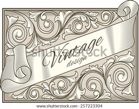 Retro decorative vintage design - stock vector