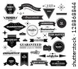 Retro Design Elements. Labels In Retro Style Isolated On White Background. Vector Illustration, Graphic Design Editable For Design. Logo Elements  - stock photo