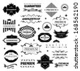 Retro Design Elements. Labels In Retro Style Isolated On White Background. Vector Illustration, Graphic Design Editable For Design. - stock vector