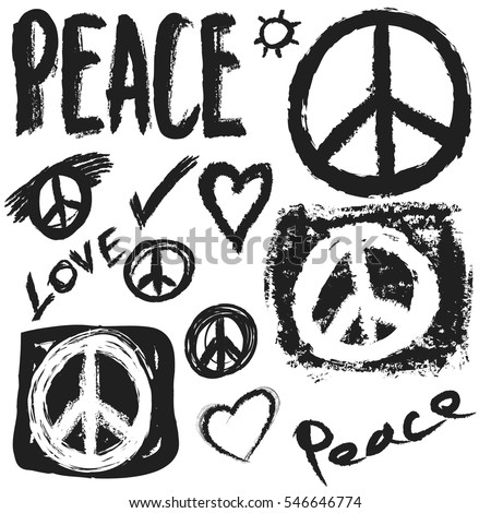 Populaire Peace And Love Banque d'images, d'images et d'images vectorielles  YN22
