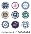 RETRO Design. Premium Vintage Labels. Trendy design. Put your text or logo. High quality. - stock vector
