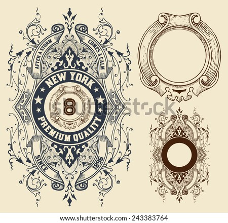 Retro design with elements. Vector file. - stock vector