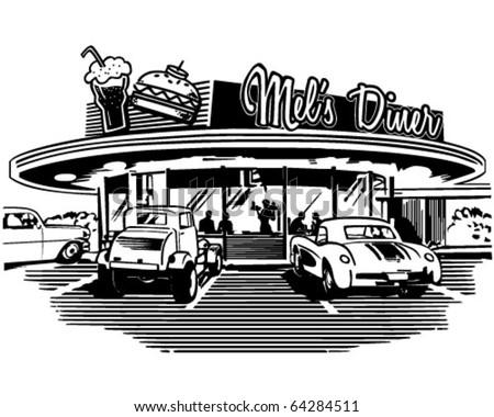 retro diner retro clipart illustration stock vector 2018 64284511 rh shutterstock com family dinner clipart diner clipart free