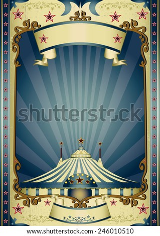Retro entertainment circus. A vintage circus background with sunbeams for your entertainment - stock vector