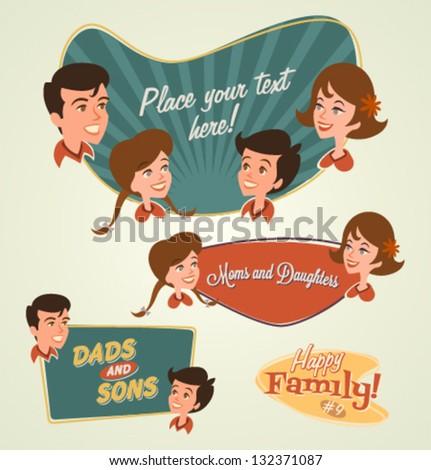 Retro family emblems