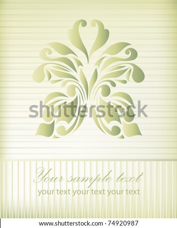Retro floral background for valentine day for logo (vector version eps 10) - stock vector