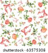Retro floral background. Rose, bow.eps10 - stock vector