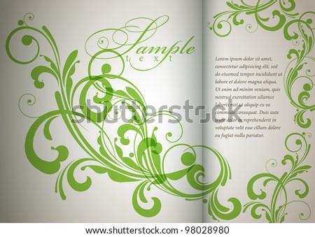 retro floral bright background for vintage design - stock vector