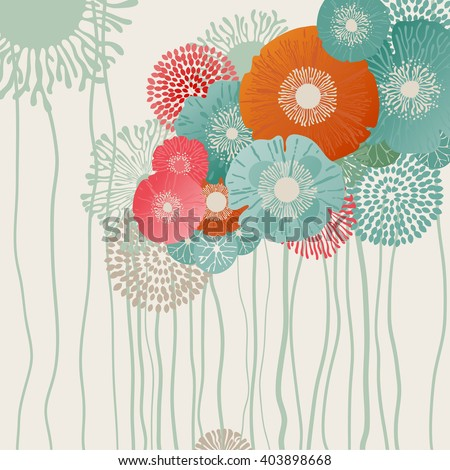 Retro flower background, eps10 vector
