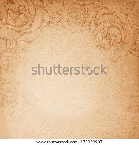 Retro flower background. Vector illustration