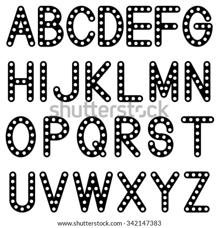 Retro font set english alphabet letters stock vector royalty free retro font set english alphabet letters design black isolated on white background vector altavistaventures Image collections