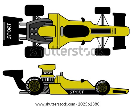 Retro formula car - stock vector