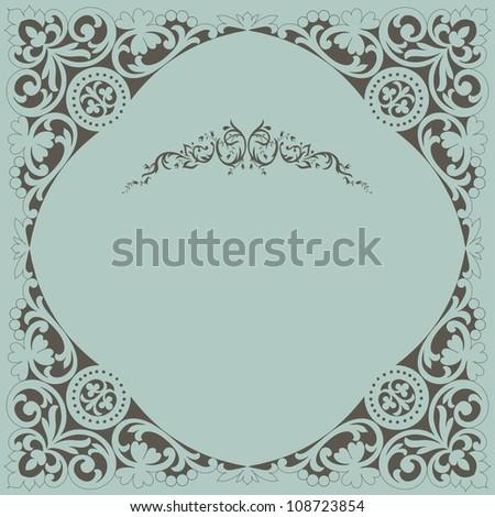 Retro frame - stock vector