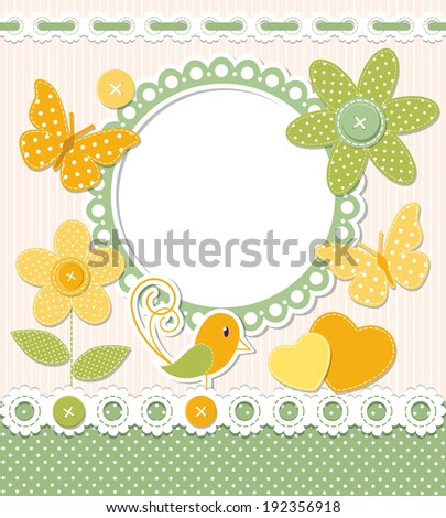 Retro frame and scrapbook elements - stock vector