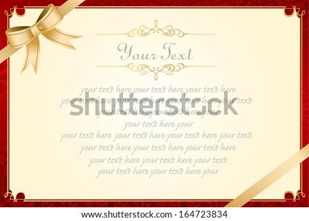 retro frame certificate template Vector  - stock vector