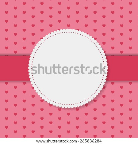 Retro Frame on Cute Background Vector Illustration EPS10 - stock vector