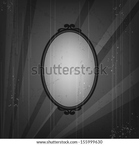 Retro frame on old grunge background. - stock vector