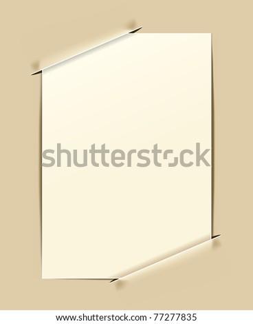 retro frame on paper background - stock vector