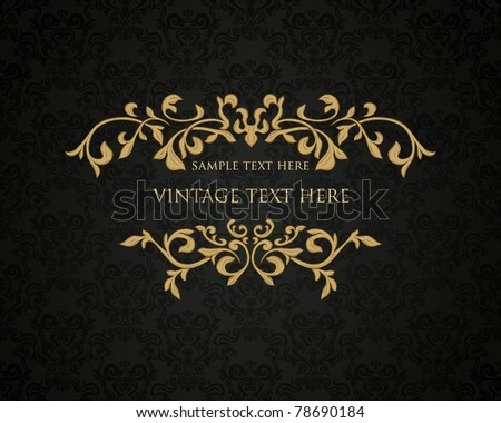 Retro frame or invitation card - stock vector