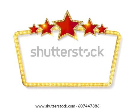 Retro Frame Five Stars Spots Blank Stock Vector HD (Royalty Free ...