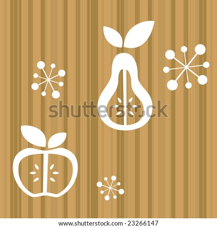 Retro Fruit Shapes - stock vector