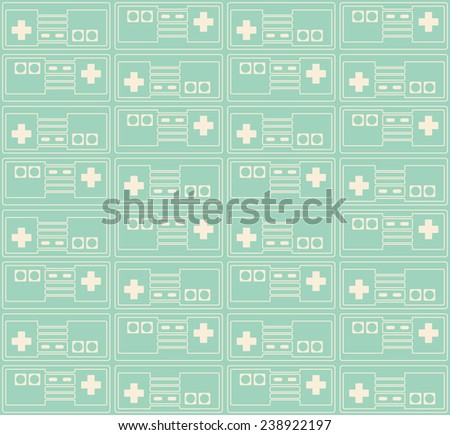 retro gamepad seamless pattern