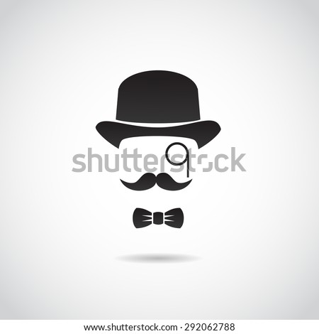 Retro gentleman. Vector illustration. - stock vector
