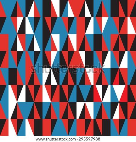 retro geometric pattern - stock vector