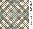 retro geometric seamless pattern in blue, and grey - stock photo