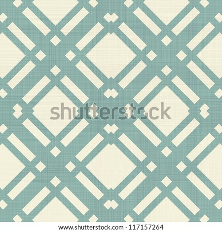 retro geometric seamless pattern in blue, and grey - stock vector