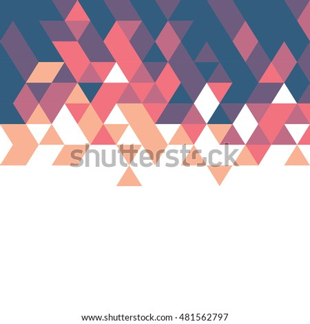 retro geometric template for business or technology presentation and space for your text or subject, vector illustration