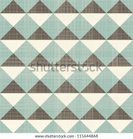 retro geometric triangles seamless pattern - stock vector