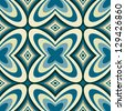 Retro Geometric Wallpaper Abstract Seamless Pattern - Vector Background - stock photo