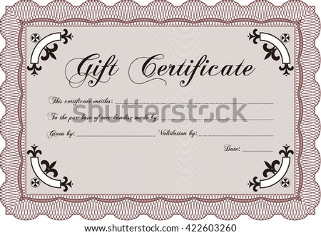 Retro gift certificate template border frame stock vector retro gift certificate template border frame artistry design with linear background yadclub Image collections