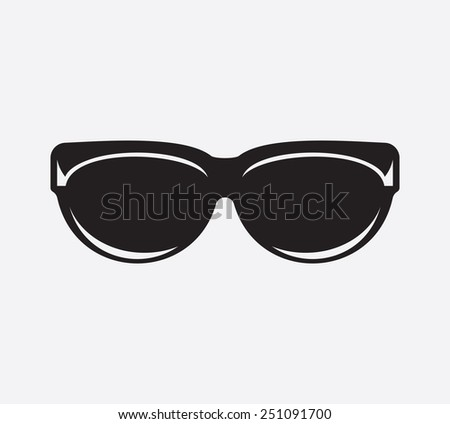 Retro glasses icon
