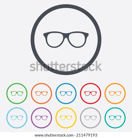 Eyeglass Frame Vector : Eyeglasses Icon Stock Images, Royalty-Free Images ...